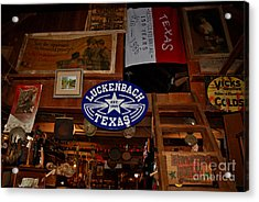 The General Store In Luckenbach Tx Acrylic Print by Susanne Van Hulst