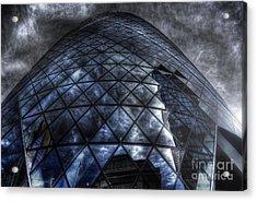 The Gherkin - Neckbreaker View Acrylic Print by Yhun Suarez