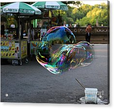 The Giant Bubble At Bethesda Terrace Acrylic Print by Lee Dos Santos