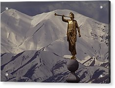 The Gilded Statue Of The Angel Moroni Acrylic Print