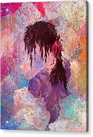 The Girl Of Many Colors Acrylic Print by Rachel Christine Nowicki
