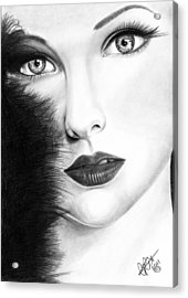 The Girl With Stars In Her Eye's Acrylic Print