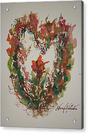 The Giving Of My Heart Acrylic Print by Edward Wolverton