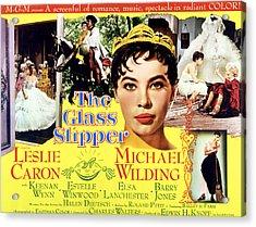 The Glass Slipper, Leslie Caron Acrylic Print by Everett