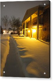 The Glow Of Golden Snow Acrylic Print by Guy Ricketts