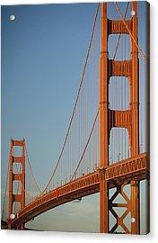 The Golden Gate Bridge At Dawn Acrylic Print by Axiom Photographic