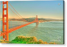 The Golden Gate Bridge  Fall Season Acrylic Print