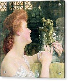 The Golden Hour Acrylic Print by Sir Lawrence Alma-Tadema