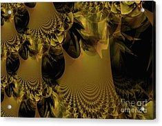 The Golden Mascarade Acrylic Print by Maria Urso