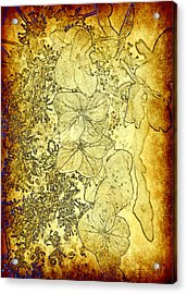 The Golden Pedals Acrylic Print by Taylor Steffen SCOTT