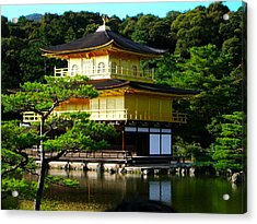 The Golden Temple In Kyoto Acrylic Print