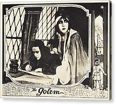 The Golem, Aka Der Golem, Wie Er In Die Acrylic Print by Everett