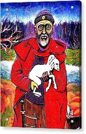 The Good Shepherd Acrylic Print by Ion vincent DAnu