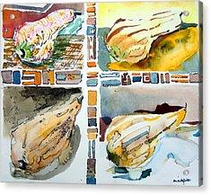 The Gourd Quartet Acrylic Print by Mindy Newman