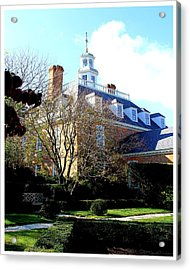 The Governors Palace Acrylic Print by Frank Wickham
