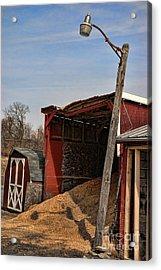 The Grain Barn Acrylic Print by Paul Ward