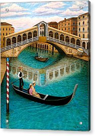 The Grand Canal Acrylic Print by Tracy Dennison