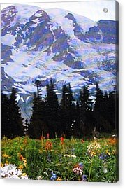 Acrylic Print featuring the photograph The Grand Tetons In Jackson  by Shawn Hughes