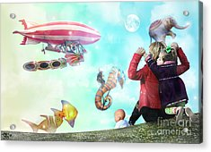The Great Parade Acrylic Print by Rosa Cobos