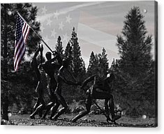 Acrylic Print featuring the photograph The Greatest Generation  by Larry Depee