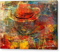 The Greatest Hope Is Not The Hat Acrylic Print by Fania Simon