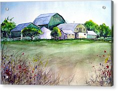 The Green Barn Acrylic Print