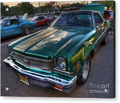 The Green Machine - Chevrolet Chevelle  Acrylic Print by Lee Dos Santos