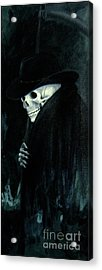 The Grim Reaper Acrylic Print by Barbara Marcus