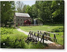 The Grist Mill Acrylic Print by Lee Fortier