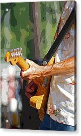The Guitar Player Acrylic Print by Margie Avellino