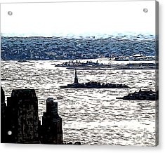 Acrylic Print featuring the photograph The Harbor by Anne Raczkowski