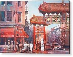 The Harmony Gate Acrylic Print by Leslie Redhead