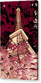 The Heart Of Paris - Digital Painting Acrylic Print by Carol Groenen