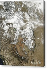The High Peaks Of The Rocky Mountains Acrylic Print by Stocktrek Images