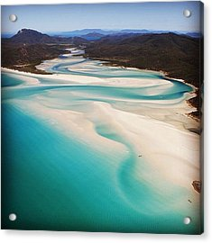 The Hill Inlet Acrylic Print