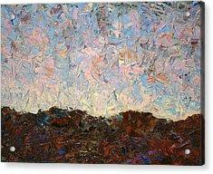 The Hills Acrylic Print by James W Johnson