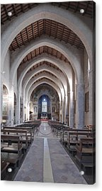 The Historic Duomo In Gubbio. 12th Acrylic Print by Rob Tilley