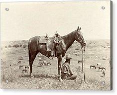 The Horse Wrangler, Photograph By Erwin Acrylic Print by Everett