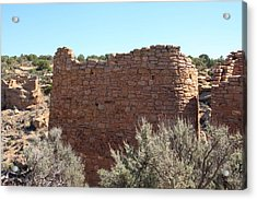The Hovenweep Twin Towers Acrylic Print by Cynthia Cox Cottam