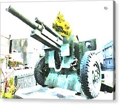 The Howitzer 105mm Field Gun Carriage Acrylic Print