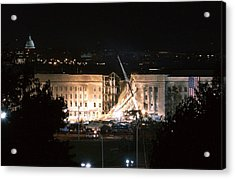 The Huge 20 X 38 Feet American Flag Acrylic Print