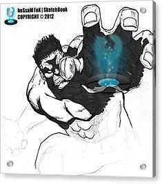 The Hulk 2 Acrylic Print by Hossam Fox