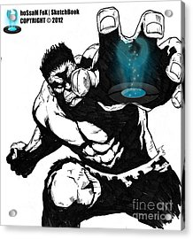 The Hulk Acrylic Print by Hossam Fox