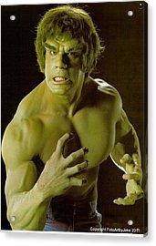 The Hulk  Acrylic Print by Jake Hartz