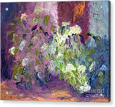 The Hydrangeas Acrylic Print by Patricia Huff
