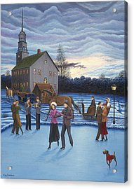 The Ice Skaters Acrylic Print by Tracy Dennison