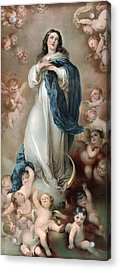 The Immaculate Conception, Depicting Acrylic Print by Everett