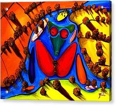 The Island Acrylic Print by Artist Singh