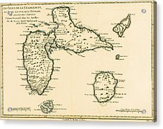 The Islands Of Guadeloupe Acrylic Print by Guillaume Raynal