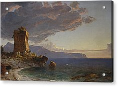 The Isle Of Capri Acrylic Print by Jasper Francis Cropsey